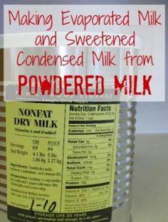 Evaporated milk and sweetened condensed milk