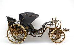 Victorian two-seater carriage à la Daumont. This carriage was made available to foreign rulers while they were visiting Austria (for instance, the future King Edward VII of England used it, and so did Kaiser Wilhelm II of Germany). It was drawn by four or six horses and driven by mounted coachmen. Made in Vienna, 1852-1853. Imperial Carriage Museum of Vienna.