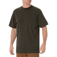 Dickies Men's Big & Tall Cotton Heavyweight Short Sleeve Pocket T-Shirt- Black Olive Xxl Tall