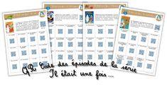 """Dessin animé """"Il était une fois…"""" – QR Code des épisodes de chaque collection ! Film D, Cycle 2, Lectures, Qr Codes, Periodic Table, Homeschool, Bullet Journal, Coding, Science"""