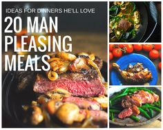 20 Man Pleasing Meals for Valentine's Day dinner. Ideas for a romantic dinner he'll love. 20 Man Pleasing Meals for Valentine's Day dinner. Ideas for a romantic dinner he'll love. Lots of paleo and gluten free options. Paleo Recipes, Great Recipes, Cooking Recipes, Favorite Recipes, Smoothies, Romantic Meals, Sandwiches, Valentines Food, Supper Recipes