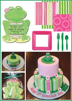 Girly Frog Birthday birthday-party-ideas