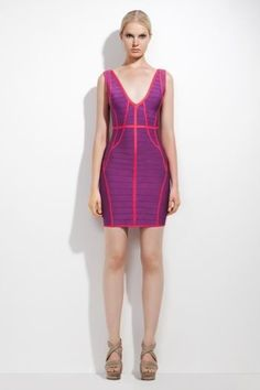 Herve Leger Daisy Banded-Trim Dress HL00161 is desinged for you,take it home now. #designer #dress