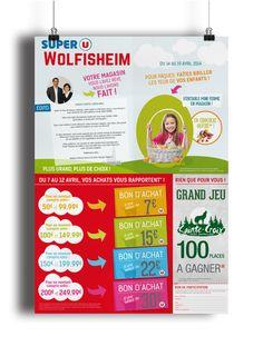 Conception d'un tract publicitaire pour la grande enseigne Super U, à Wolfisheim.