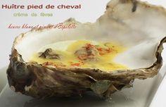 Huître à la crème de fève et beurre monté au Muscadet - Mamina !