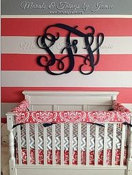 pink navy nursery decor - Google Search