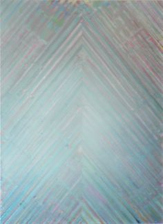 "Lisa Bartleson, ""Artifact No. 2 Blue / Grey (Fog)"", Mixed Media On Canvas, 64 x 54 inches"