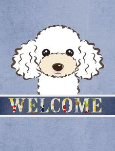 Poodle Welcome 2-Sided Garden Flag