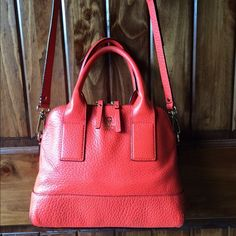 Red Orange Kate Spade Purse. Crossbody or handles Another perfect pop of colorWill compliment almost any outfit. Make me an offer! kate spade Bags Crossbody Bags