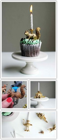 Have fun making these sweet little cupcake candle holders!