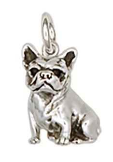 French Bulldog Charm Handmade Sterling Silver Dog Jewelry FR18-C