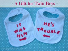 Bibs for Baby Boys Gift Idea Gifts for Twins