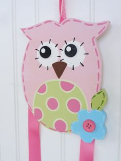 Hand Painted Owl Hair Bow Holder by threedoodlebugs on Etsy, $32.99