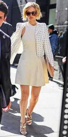 White outfit so elegant