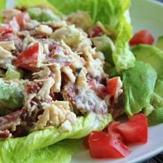 Chicken Salad with Bacon, Lettuce and Tomato, we eat it as a sandwich.