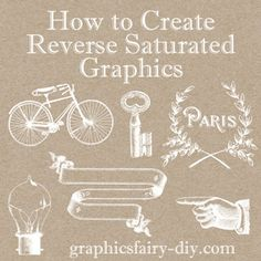 *The Graphics Fairy LLC* how to make reverse saturated graphics