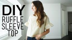 DIY ruffle sleeve top