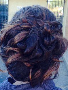 Messy-pretty hair updo  prom