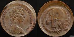 Australian 1966 1 cent broadstrike error #australiancoins #coinerrors