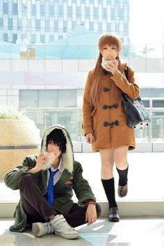 Tonari no Kaibutsu: Haru and Shizuku.