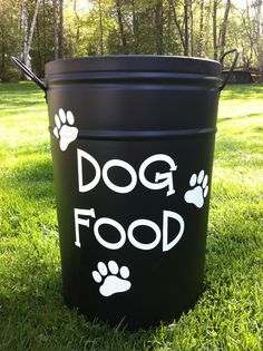 Cute Dog Food Storage Container vis Etsy!  A Healthy Dog is a Happy Dog / www.PetWellbeing.org