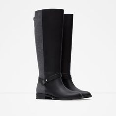 COMBINED HIGH BOOTS-Boots and ankle boots-Shoes-WOMAN | ZARA United States