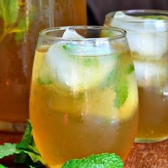 Honey Mint Green Iced Tea - Will Cook For Smiles