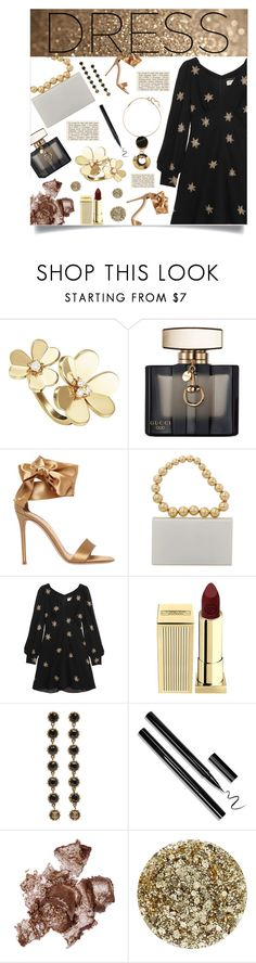 """""""Dreamy Dress"""" by simpleautumn on Polyvore featuring Van Cleef & Arpels, Gucci, Gianvito Rossi, Charlotte Olympia, Yves Saint Laurent, Lipstick Queen, By Terry, Smith & Cult, Marni and dreamydresses"""