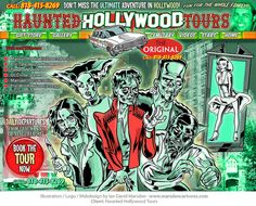 Haunted Hollywood Tours - Illustration and Design by Ian David Marsden, via Flickr