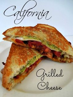 20 million ways to eat grilled cheese. This california grilled cheese plus 19 of the best grilled cheese recipes, there is something for everyone! Roast Beef Sandwich, Grill Cheese Sandwich Recipes, Grilled Sandwich, Soup And Sandwich, Chicken Sandwich, Best Sandwich Recipes, Grilled Food, Tomato Sandwich, Best Grilled Cheese