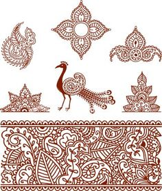 Indian heena patterns