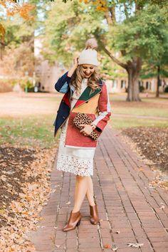 blush and camo, style blog, fall fashion, tory burch coat, fashion blog, white dress, style tips