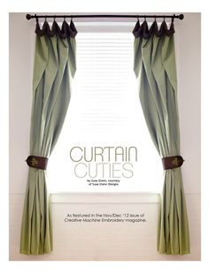 Free Embroidery Design & Sewing Pattern: Curtain Cuties - I Sew Free