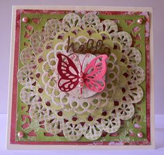Couture Creations: Hello Card by Adriana Bolzon   #couturecreationsaus #decorativedies #vintagerosegarden #cards