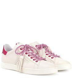 TOD'S Tassel-tie leather sneakers. #tods #shoes #