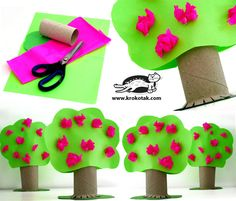 Paper roll craft ideas for kids and adults. Easy toilet paper roll crafts for preschoolers,toddlers. crafts to make using paper rolls: Christmas, Easter. How to make animals, butterflies, pilgrims Kids Crafts, Summer Crafts, Toddler Crafts, Preschool Crafts, Projects For Kids, Diy For Kids, Craft Projects, Toilet Paper Roll Crafts, Paper Crafts