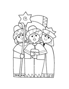 Wise Men coloring page