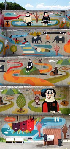 El Street Art de Agostino Iacurci