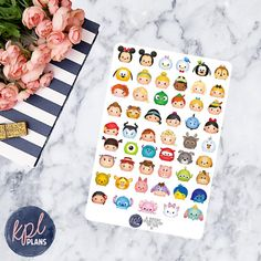 Disney Tsum Tsums Planner Stickers. Set of 53. Perfect for Erin Condren Life Planners! 114