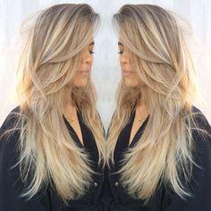 cool Обаятельная стрижка лесенка на длинные волосы с челкой и без (50 фото) Читай больше http://avrorra.com/strizhka-lesenka-na-dlinnye-volosy-foto/