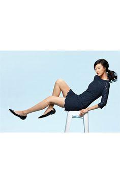 Adrianna Papell Illusion Yoke Lace Sheath Dress | Nordstrom