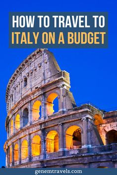 Planning a trip to Italy with lower budget? From the article you will find out how to travel to places like Venice, Cinque Terre, Amalfi Coast cheaply. And other cheap places in Italy. Plan your cheap trip to Italy with that article and save money. Find out these tips and tricks! Italy Travel Tips, Rome Travel, Europe Travel Guide, Travel Guides, Travel Destinations, Backpacking Europe, Travel Abroad, Things To Do In Italy, Places In Italy