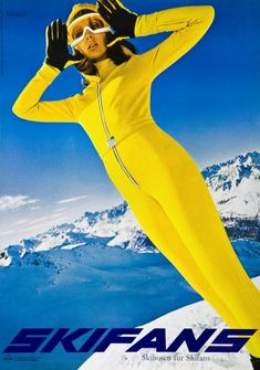 """1970s Skifans Advertising Ski Poster  Skea Limited Ski Inspiration: """"Follow you passion to your dreams"""" -SKEA www.skealimited.com"""