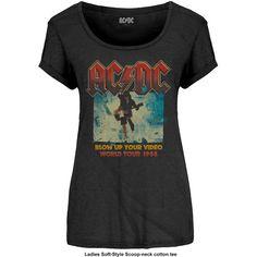 AC/DC - Blow Up Your Video (Black) (Women's)