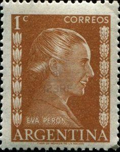 Eva Peron Stamp circa 1952.