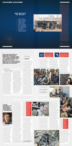 """Wired Italy - nr 70 """"War Reporter""""  Art direction: Corrado Garcia  Photo Editor: Francesca Morosini; designer: Massimiliano Mauro"""