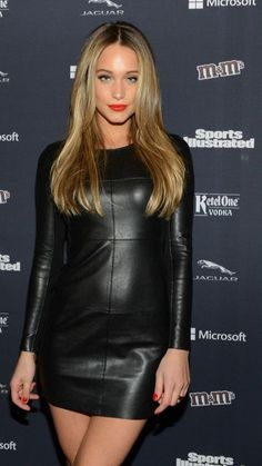 Hannah Davis, Leder Outfits, Black Leather Dresses, Leather Fashion, Fall Outfits, Sexy Women, Lady, Swimsuits, Sports Illustrated