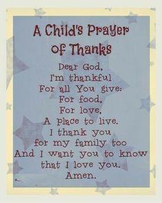 Child's Prayer of Thanks & 12 Little Blessings Book Giveaway A Child's Prayer of Thanks- Click through for more prayer ideas for children!A Child's Prayer of Thanks- Click through for more prayer ideas for children!