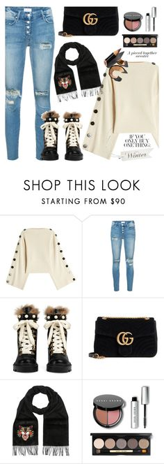 """Winter sweaters"" by jan31 ❤ liked on Polyvore featuring Petar Petrov, Mother, Gucci, Bobbi Brown Cosmetics, jeans, sweaters and anklebooties"