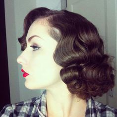 To show my hairdresser how I curl my hair - I believe this picture is originally from aciddollvintage